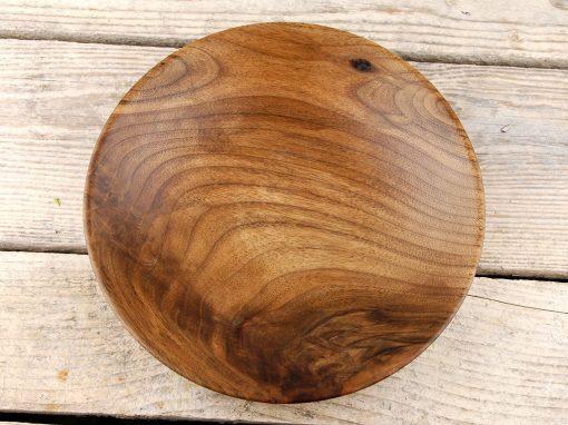 Farfurie din lemn de nuc